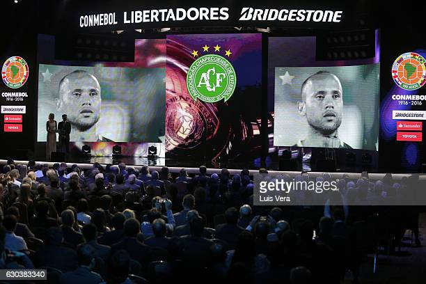 CONMEBOL remembers and honours players of Chapecoense who died in a fatal airplane crash during the Copa Libertadores 2017 Official Draw at Conmebol...