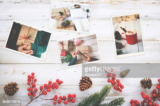 remembrance and nostalgia in Christmas : Stock Photo