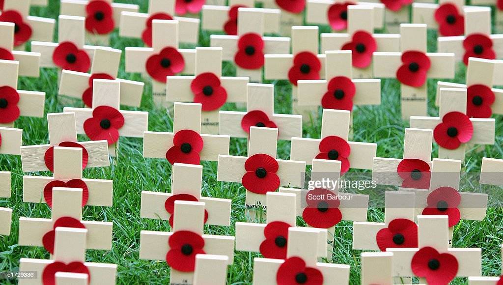 Remembrance Day Service Held At Westminster Abbey : Stock Photo