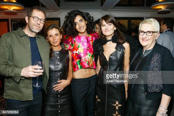 Remi Babinet Aurelie Boue Brune Buonomano MarieAmelie Sauve and Mercedes Erra attend the Mastermind Magazine launch dinner as part of Paris Fashion...
