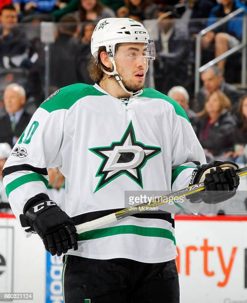 Remi Elie of the Dallas Stars in action against the New Jersey Devils on March 26 2017 at Prudential Center in Newark New Jersey The Stars defeated...
