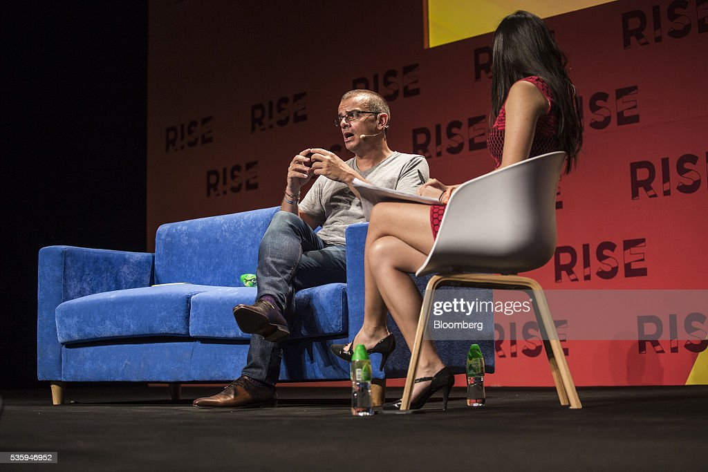 Remi El-Ouazzane, chief executive officer of Movidius Ltd., left, speaks during the Rise conference in Hong Kong, China, on Tuesday, May 31, 2016. The conference runs through June 2. Photographer: Justin Chin/Bloomberg via Getty Images