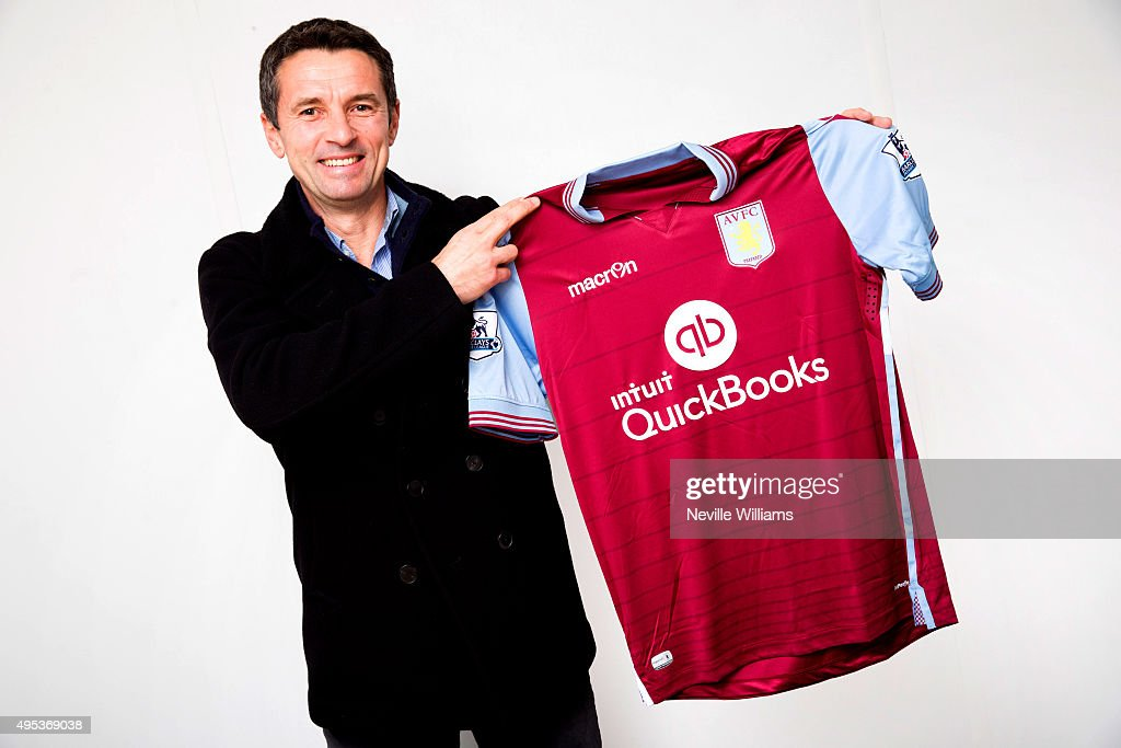Remi Garde the new manager of Aston Villa poses for a picture at Luton Airport on November 02 2015 in Luton England