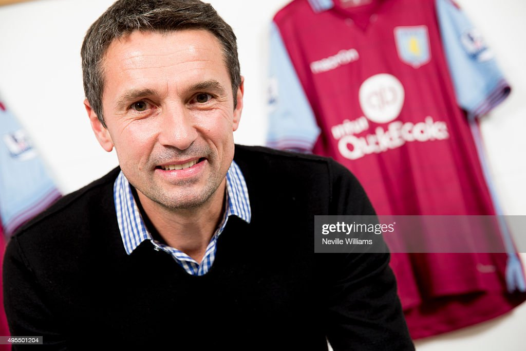 Remi Garde the new manager of Aston Villa poses for a picture at the clubs training ground Bodymoor Heath on November 03 2015 in Birmingham England