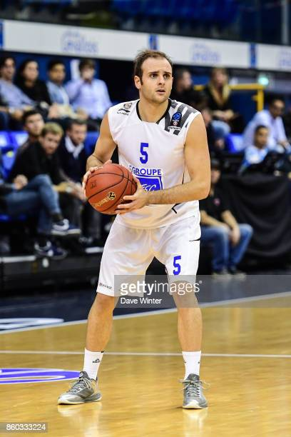 Remi Lesca of Levallois during the EuropCup match between Levallois Metropolitans and Darussafaka Istanbul at Salle Marcel Cerdan on October 11 2017...