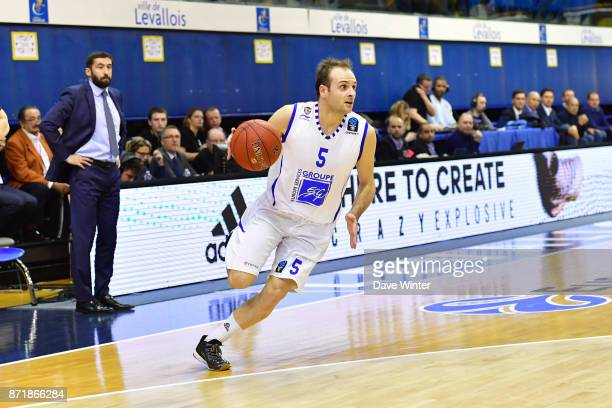 Remi Lesca of Levallois during the EuropCup match between Levallois Metropolitans and Cedevita Zagreb at Salle Marcel Cerdan on November 8 2017 in...