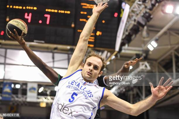 Remi Lesca of Levallois during the Pro A match between Levallois Metropolitans and Boulazac at Salle Marcel Cerdan on October 21 2017 in Paris France