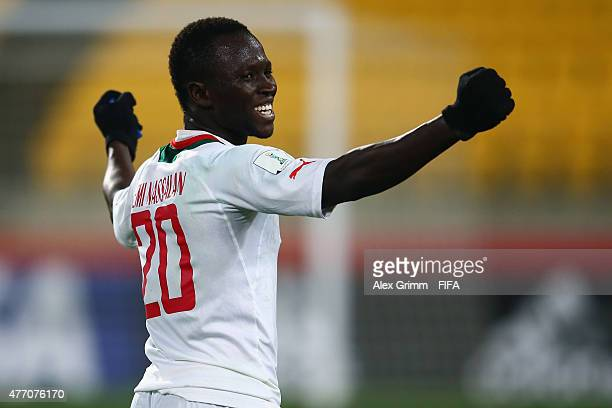 Remi Nassalan of Senegal celebrates after the FIFA U20 World Cup New Zealand 2015 Quarter Final match between Senegal and Uzbekistan at Wellington...