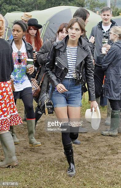 Remi Nicole Pixie Geldof and Alexa Chung sighting at the 2008 Glastonbury Festival on June 27 2008 in Glastonbury England