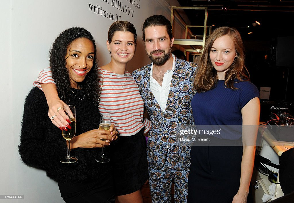 Remi Nicole, <a gi-track='captionPersonalityLinkClicked' href=/galleries/search?phrase=Pixie+Geldof&family=editorial&specificpeople=208703 ng-click='$event.stopPropagation()'>Pixie Geldof</a>, Jack Guinness and Lou Hayter attend the launch of Alexa Chung's first book 'It' at Liberty on September 4, 2013 in London, England.