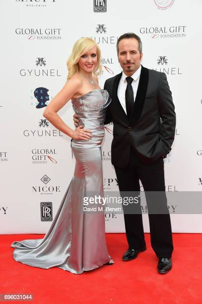 Remigio Pereira and Michelle Palmer attend the Global Gift Gala for The Diana Award hosted by Earl Spencer at Althorp House on June 14 2017 in...