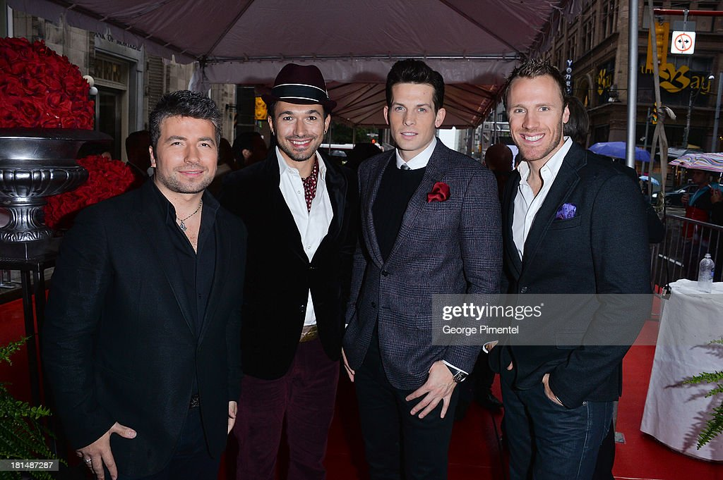 Remigio Pereira, Victor Micallef, Fraser Walters, and Clifton Murray of the band 'The Tenors' attend Canada's Walk Of Fame Ceremony at The Elgin on September 21, 2013 in Toronto, Canada.