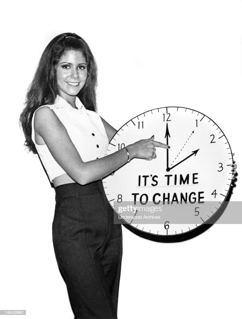 A reminder to change clocks back from day light savings time in the fall, Brooklyn, New York circa 1964.