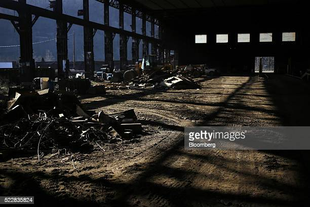Remnants from the former Bethlehem Steel Corp plant stand Johnstown Pennsylvania US on Thursday April 14 2016 An economic wave that washed away the...