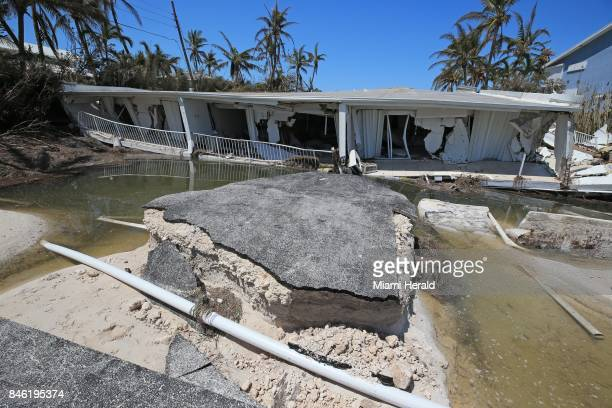 Remnants of a threestory 12unit condominium near Islamorada along the Overseas Highway in the Florida Keys on Tuesday Sept 12 2017 The building...