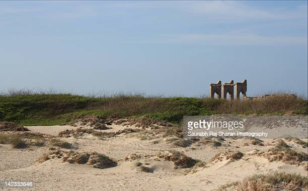 Remnants of Dhanushkodi railway station
