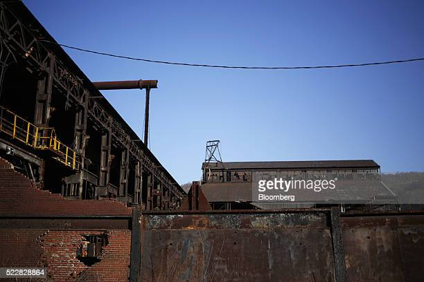Remnants of the former Bethlehem Steel Corp plant stand in Johnstown Pennsylvania US on Thursday April 14 2016 An economic wave that washed away the...
