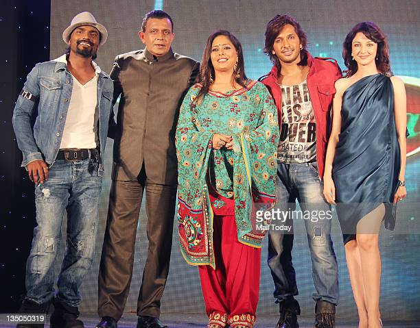 Remo D'souza Mithun Chakraborty Geeta Kapur Terence Lewis and Soumya Tandon during the launch of dance reality show 'Dance India Dance Season 3' in...