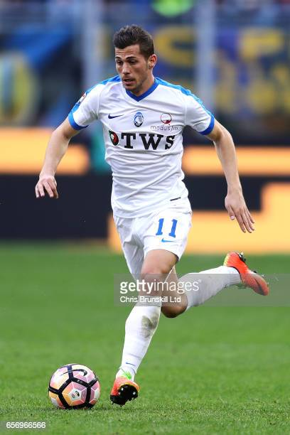 Remo Freuler of Atalanta BC in action during the Serie A match between FC Internazionale and Atalanta BC at Stadio Giuseppe Meazza on March 12 2017...