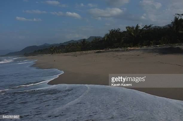 A remote beach near Tayrona National Park in the Colombian northern Caribbean region and within the jurisdiction of the Department of Magdalena and...