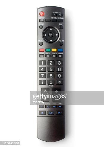 TV remote control (clipping path), isolated on white background