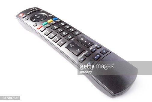 TV remote control, isolated on white background