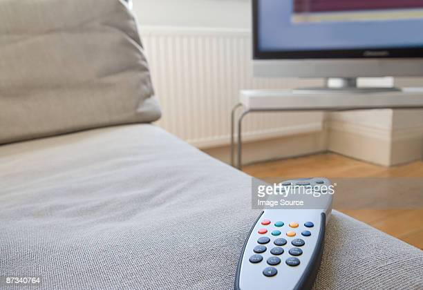 Remote control on a sofa