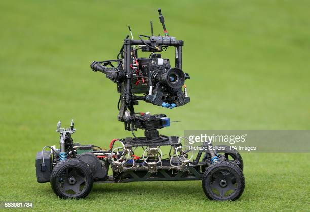 A remote controlled camera on the course