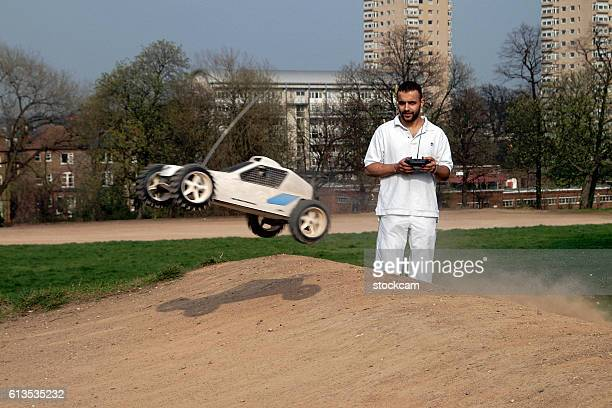 Remote controlled model ralley car