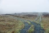 Remote dirt crossroads