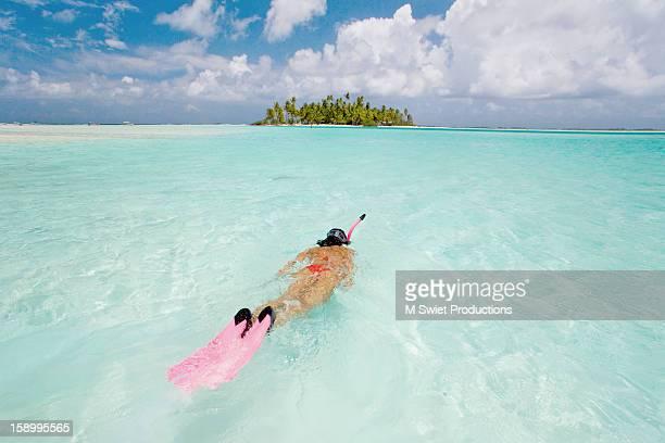 remote island atoll