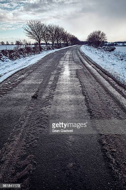 Remote winter road