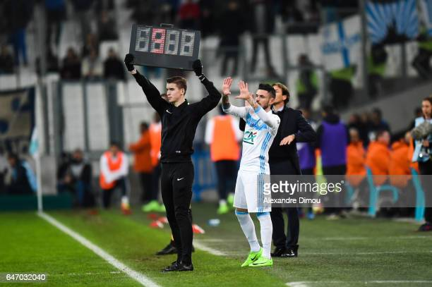 Remy Cabella of Marseille during the French Cup match between Marseille and Monaco at Stade Velodrome on March 1 2017 in Marseille France