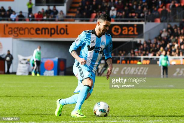 Remy Cabella of Marseille during the French Ligue 1 match between Lorient and Marseille at Stade du Moustoir on March 5 2017 in Lorient France