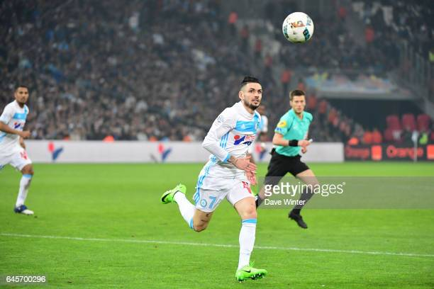 Remy Cabella of Marseille during the French Ligue 1 match Marseille and Paris Saint Germain at Stade Velodrome on February 26 2017 in Marseille France