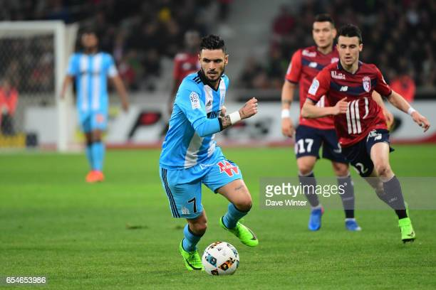 Remy Cabella of Marseille during the Ligue 1 match between Lille OSC and Olympique de Marseille at Stade Pierre Mauroy on March 17 2017 in Lille...