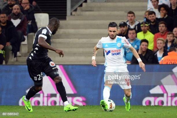 Remy CABELLA of Marseille during the Ligue 1 match between Olympique de Marseille and SCO Angers at Stade Orange Velodrome on March 10 2017 in...