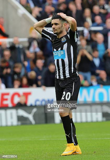 Remy Cabella of Newcastle during the Barclays Premier League match between Newcastle United and Liverpool at St James' Park on November 01 2014 in...