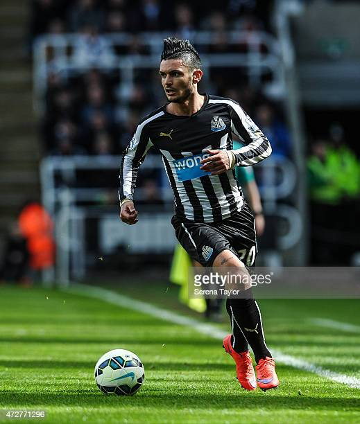 Remy Cabella of Newcastle runs with the ball during the Barclays Premier League match between Newcastle United and West Bromwich Albion at St James'...