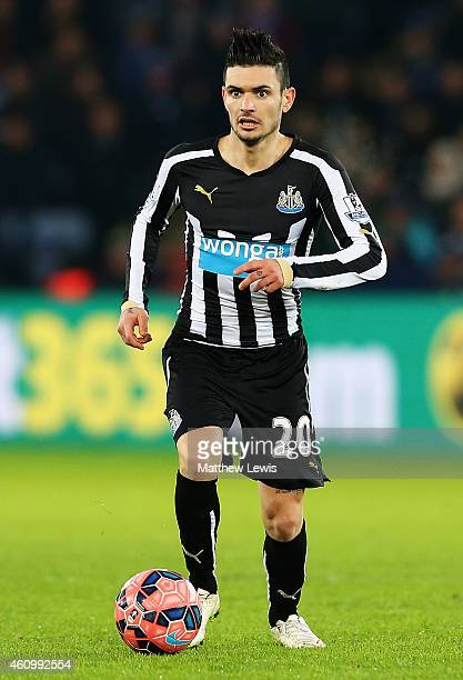 Remy Cabella of Newcastle United in action during the FA Cup Third Round match between Leicester City and Newcastle United at The King Power Stadium...