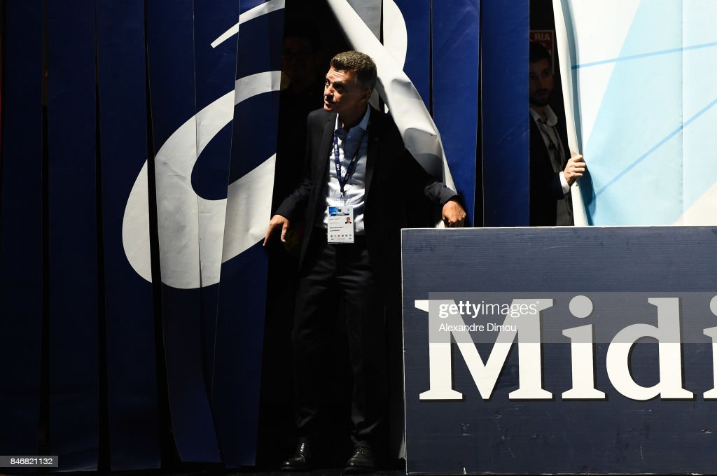 Remy Levy President of Montpellier during Lidl Star Ligue match between Montpellier and Chambery on September 13, 2017 in Montpellier, France.