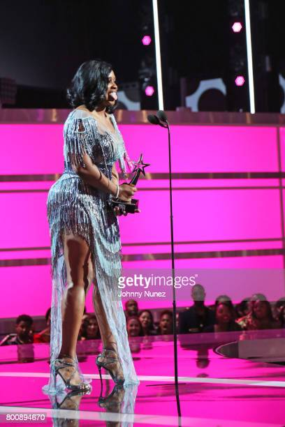 Remy Ma accepts the Best Female Hip Hop Artist award onstage at 2017 BET Awards at Microsoft Theater on June 25 2017 in Los Angeles California