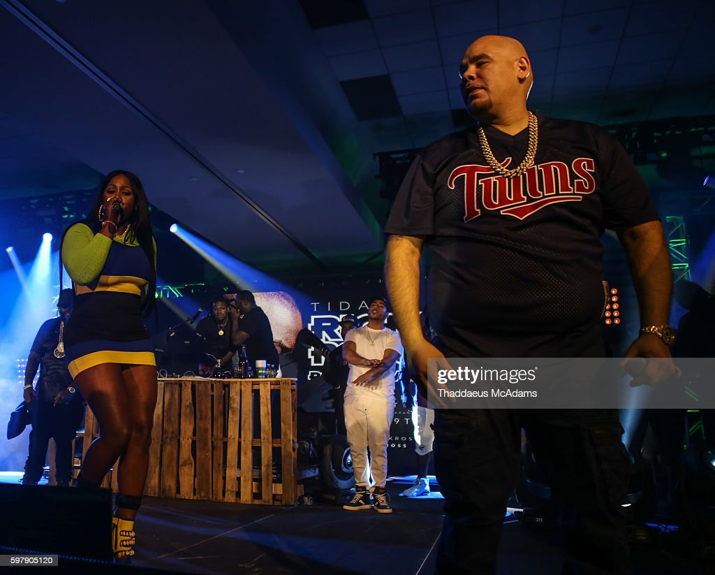 Remy Ma and Fat Joe perform at Port of Miami concert at Jungle Island on August 29 2016 in Miami Florida