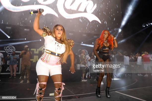 Remy Ma and Lil Kim perform at the 2017 Hot 97 Summer Jam at MetLife Stadium on June 11 2017 in East Rutherford New Jersey