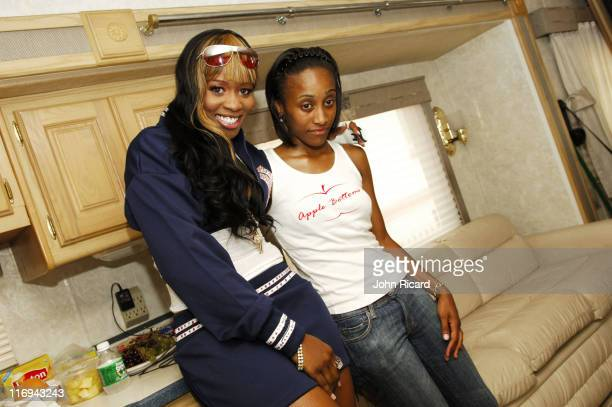 Remy Ma and manager Jennifer Turner during Remy Ma on Location for 'Whuteva' Music Video July 13 2005 at Queens in New York City New York United...