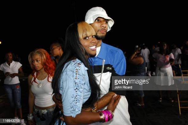Remy Ma and Swizz Beatz during Remy Ma on Location for 'Whuteva' Music Video July 13 2005 at Queens in New York City New York United States