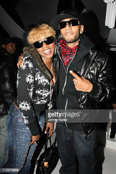 Remy Ma and Swizz Beatz during Swizz Beatz Live with Secial Guest Hosted By Mister Cee and Hot 97 FM at Club Avolon in New York City New York United...