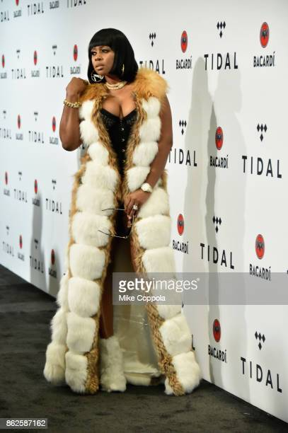 Remy Ma attends TIDAL X Brooklyn at Barclays Center of Brooklyn on October 17 2017 in New York City