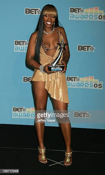 Remy Ma during 2005 BET Awards Press Room at Kodak Theatre in Hollywood California United States