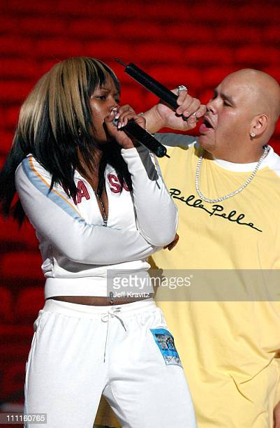 Remy Ma of Terror Squad and Fat Joe during 2004 MTV Video Music Awards Lil' Jon and Fat Joe Rehearsals Day 1 at American Airlines Arena in Miami...